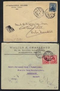 EGYPT-1914-20s-4-PREPRINTED-COVERS-FRANKED-PICTORIALS-OF-1914-ALEXANDRIA-amp-CAIRO