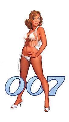 Baron Von Lind BOND GIRL 007 RETRO STICKER/ DECAL RARE!