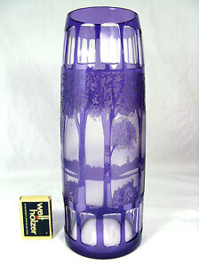 Rare Bohemian Art Nouveau glass vase / Seltene böhmische Jugenstil Glas Vase
