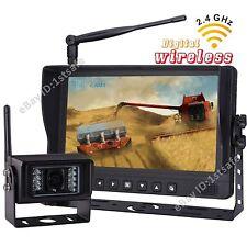 "9"" DIGITAL WIRELESS SPLIT LCD+1 BACKUP CAMERA REAR VIEW SYSTEM FOR RV MOTORHOME"