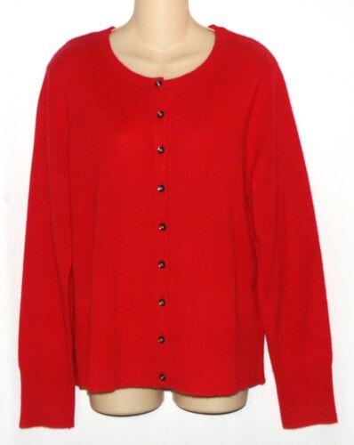 taille pour femme XL cachemire Pull Nouveau Apte boutonné 125 100 9 devant rouge 400939609426 Cardigan ax48w