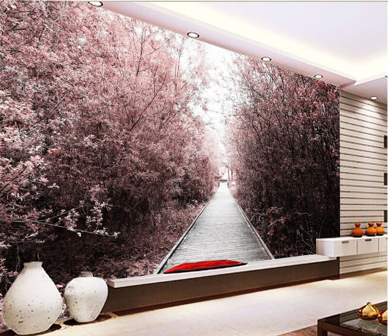 3D outdoor tree Lush Wall Paper wall Print Decal Wall Deco Indoor wall Mural
