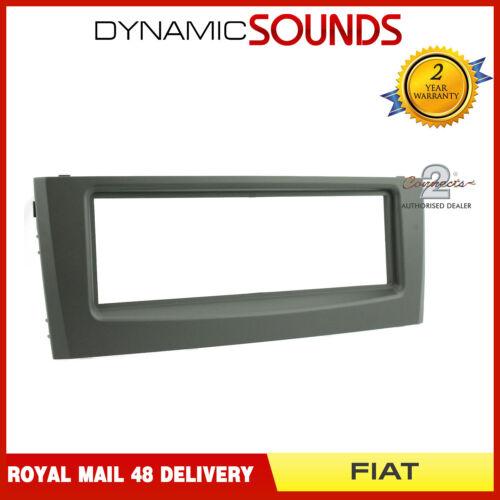 Voiture CT24FT18 simple din fascia panel adaptateur noir mat pour FIAT