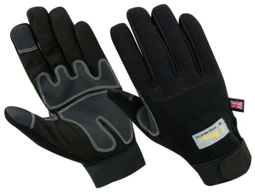 Black Max High Performance Builders Mechanics Work Safety Hand Protection Gloves