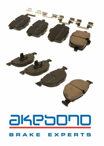 For BMW F06 F10 550i 640i 650i xDrive Set of Front /& Rear Brake Pad Sets Akebono