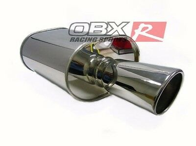 """OBX Stainless Steel Universal Forza Tuning Muffler 2.5/"""" Inlet Fits Acura Camry"""