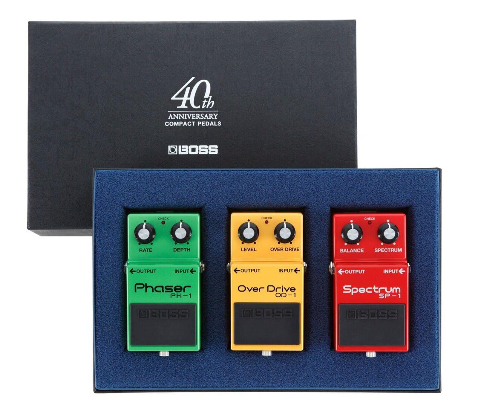 BOSS Box-40 Compact Guitar Effect Pedals 40th Anniversary Box PH-1 SP-1 OD-1 Set