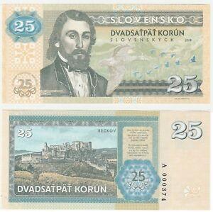 Slovaquie 25 Korun 2018 Unc Specimen Test Concept Note Billet-afficher Le Titre D'origine Hgvfivgc-07234857-434966924