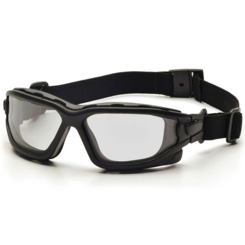 Pyramex I-Force Slim Safety Glasses//Goggles Black Frame Clear H2X Anti-Fog Len