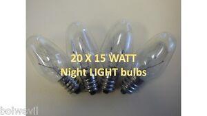 High-Quality-20-PACK-15-watt-NIGHT-LIGHT-Bulb-Fits-WALLPLUG-IN-Scentsy-Warmer