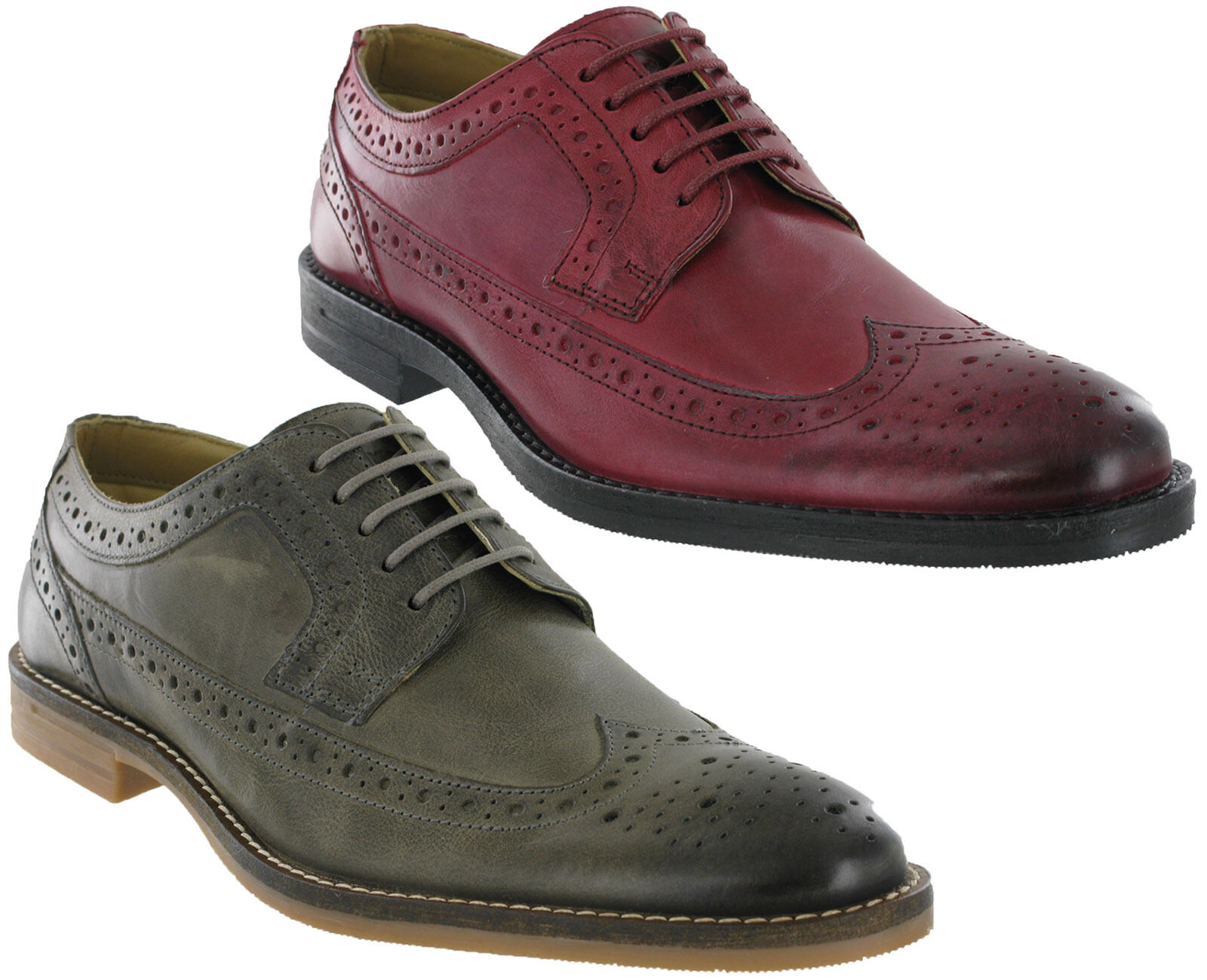 Base London Scarpe calata in pelle Milton Formale 5 Eye Ups Uomo Foderato in Pizzo Ups Eye b31e1e