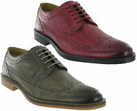 Base London Brogue Shoes Leather Milton Formal 5 Eye Mens Lined Lace Ups Uk 6-12