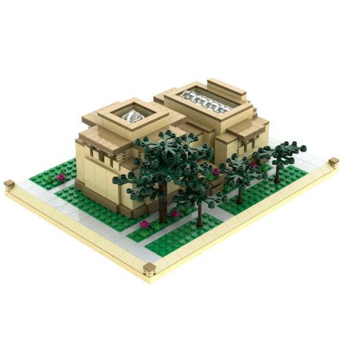 Frank Lloyd Wright Unity Temple Atom Brick Architecture Building Set 912 pieces