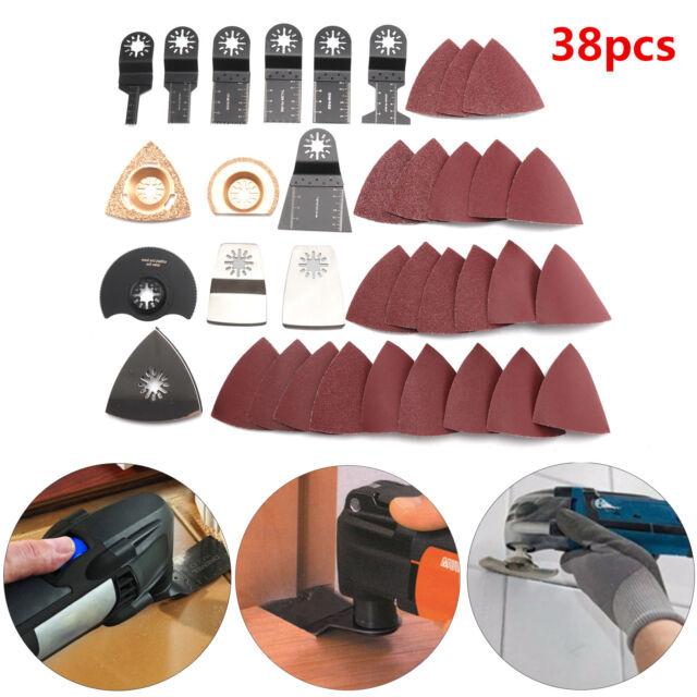 38PCS Mix Oscillating Multi Tool Saw Blades For Bosch Fein MultiMaster Makita UK