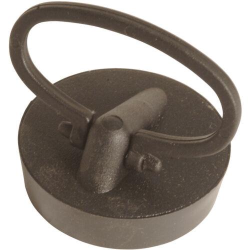 """McAlpine Black PVC Plug /& Handle 1 1//2/"""" Fits 1 1//4/"""" Waste"""