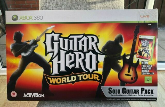 Guitar Hero World Tour avec Sans fil Red Octane Guitare Xbox 360-utilisé