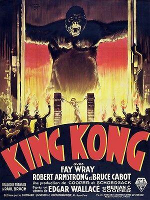 8591.Decoration movie Poster.Home Room wall art design.King Kong film decor