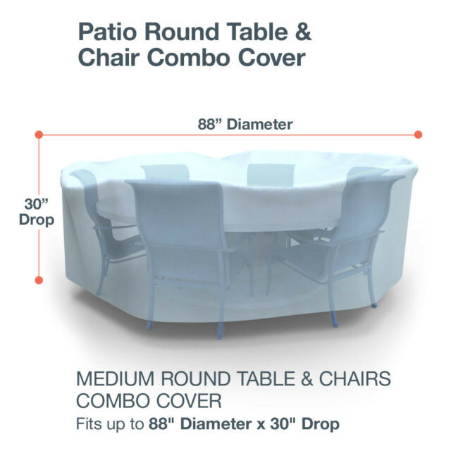 Stupendous Budge All Seasons Round Patio Table And Chairs Cover Various Sizes And Colors Machost Co Dining Chair Design Ideas Machostcouk