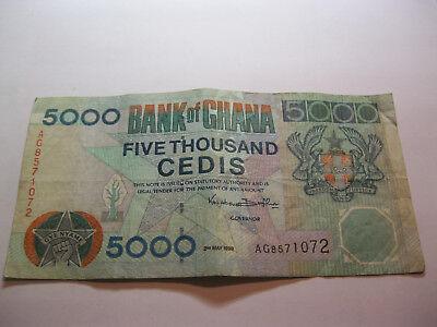 Ghana. 5000 note cédis 1998   eBay