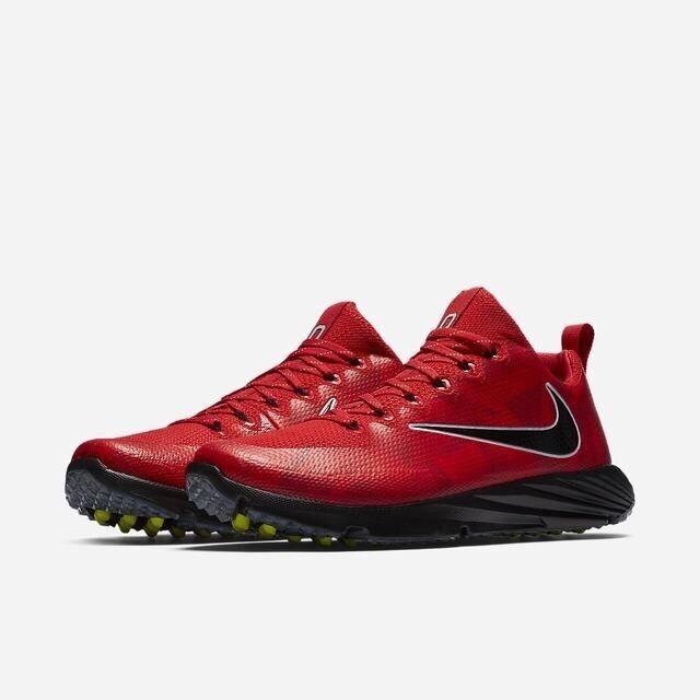 Nike Vapor Speed Ohio State Buckeyes Turf shoes Red Black 924776-601 Size 8