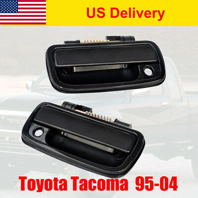 Driver Side Black Plastic Exterior Door Handle For 95-2004 Toyota Tacoma Front