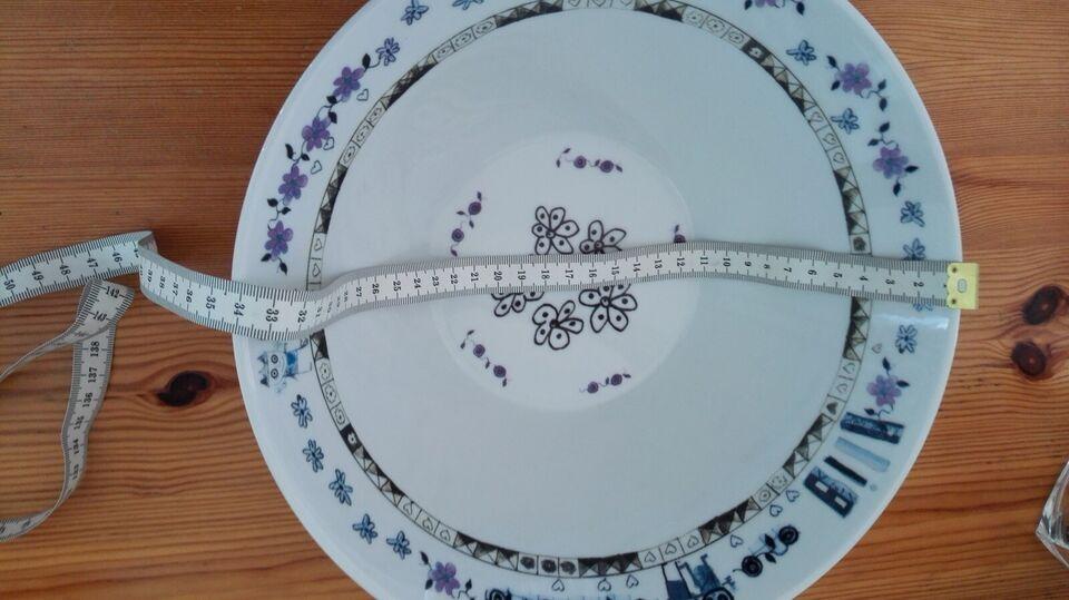 Porcelæn, skål og store runde, POUL PAVA