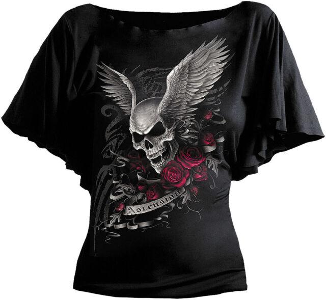 SPIRAL DIRECT Womens Latin Boatneck/Goth/Dragon/Rock/Metal/Fairy/Angel/Top/Tee
