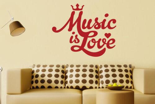 Music Is Love Wall Stickers Vinyl Art Decals