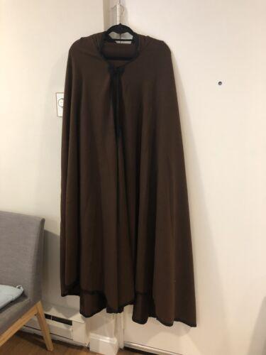 Handmade Moroccan wool cloak Brown Cloak With Hoo… - image 1