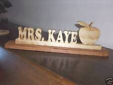 Hand Crafted Personalized Wood Pencil Teacher Desk Name Plate Free