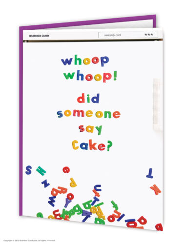 Funny Birthday Cards Witty Amusing Comedy Humour Quirky Novelty Joke Cake Lovers
