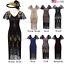 Womens-Vintage-1920s-Flapper-Gatsby-20s-Wedding-Party-Evening-Dress-Plus-Size thumbnail 1