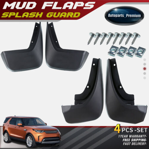 4Pcs Splash Guards Mud Flaps Full Set for Land Rover Discovery 5 2017-2018 New