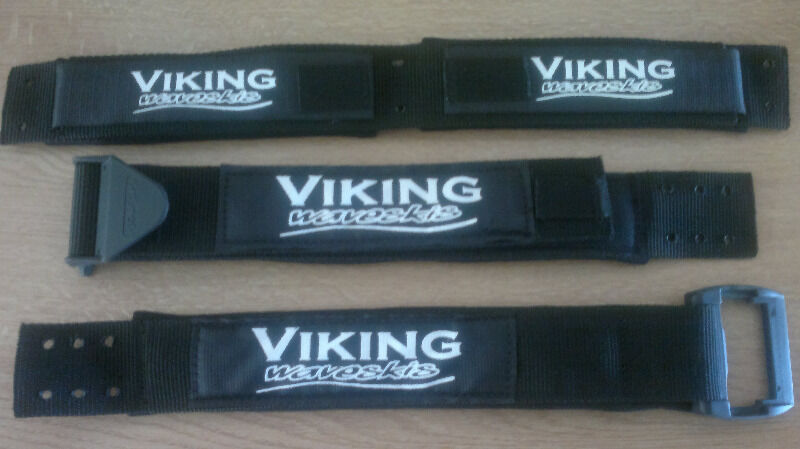 VIKING straps stand proud! Genuine velcro with comfy soft thick padded adjustable strap