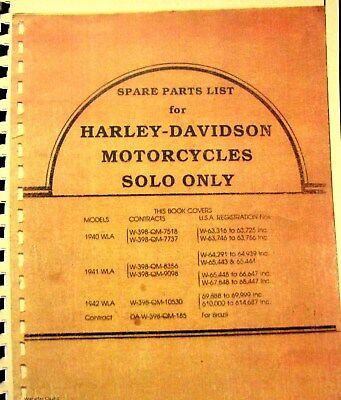 1940-1941-1942 Harley-davidson Wla Solo Modelli Lista Parti Illustrato Vuoi Comprare Alcuni Prodotti Nativi Cinesi?