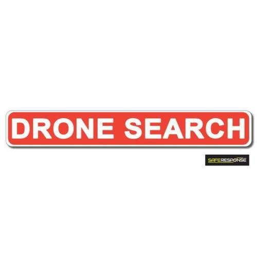 Magnetic sign DRONE SEARCH Red White vehicle Magnet MG180