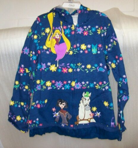 GIRLS DISNEY RAPUNZEL  ZIP UP HOODIE BLUE MULTIPLE SIZES NEW WITH TAGS MSRP$30
