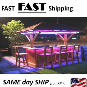 Tiki Bar Outdoor Bar Lighting Kit Diy No Wiring Required Plug Amp Play New Ebay