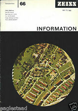 Magazine - Zeiss - Information - 98 - Axioplan Microscope - 1986  (E2813)