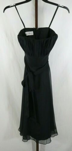 Mori Lee Womens Ladies Black Strapless Party Cockt