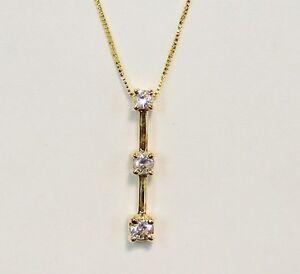 Mint 14k yellow gold 14ctw three stone diamond past present image is loading mint 14k yellow gold 1 4ctw three stone aloadofball Gallery