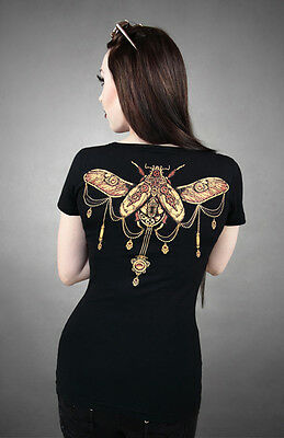 Restyle T-Shirt Steampunk  Käfer Barock Victorian Gothic Lolita Beetle RS54