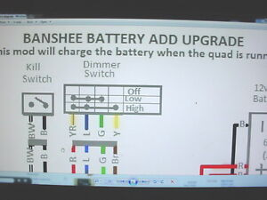 Details about Yamaha Banshee stator battery ugrade wiring diagram engine on