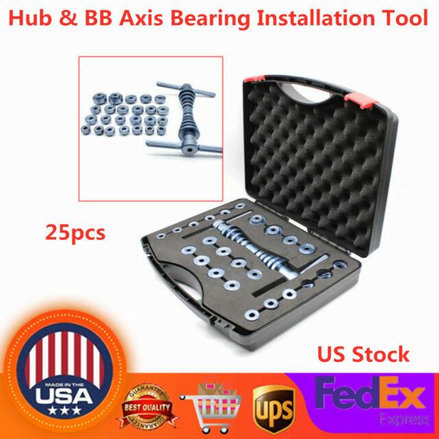 25x Bike Bottom Bracket Bicycle Hub /&BB Axis bearing installation Press Tool+Box