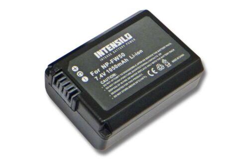 Chip für SONY Alpha NEX-C3D original intensilo® Akku 1.050mAh für NEX-C3K