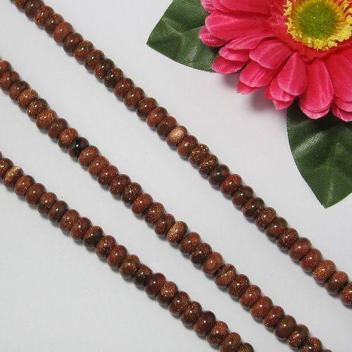 goldfluss 2 Strang 5x10mm,Rondelle Perlen,Lose Perlen