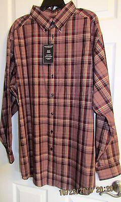 Roundtree /& Yorke Silky Finish Big Men/'s Long Sleeve Shirt Various Sizes