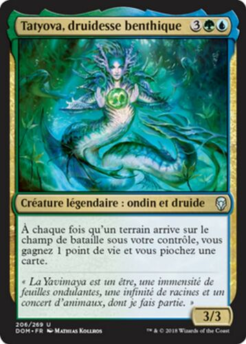 benthic druid-druidesse benthic mtg magic dom Mrm fr//vf 2x tatyova