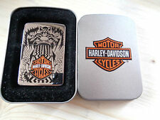 ZIPPO LIGTHER HARLEY DAVIDSON CROMO WITH LOGO NEW HD250H32