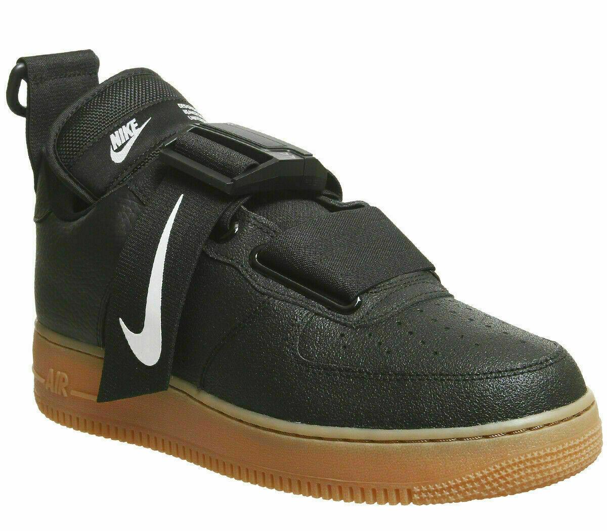 Nike Air Force 1 Utility Af1 Low Ao1531 002 Black White Gum Bottom Men's 9